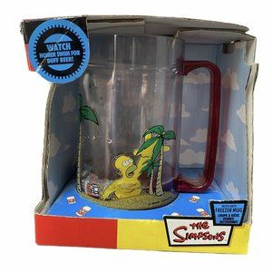 Simpsons Beach Bash Freezer Mug Homer